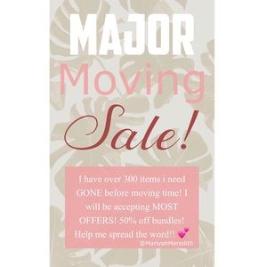 Other - MOVING SALE! 50% off bundles of two or more items!